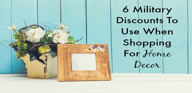 6 Military Discounts To Use When Shopping For Home Decor