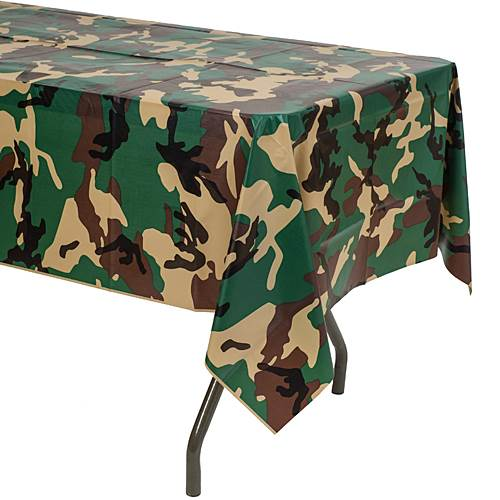 Camo Party Table Cloth $4.03 + 20% Mil Discount