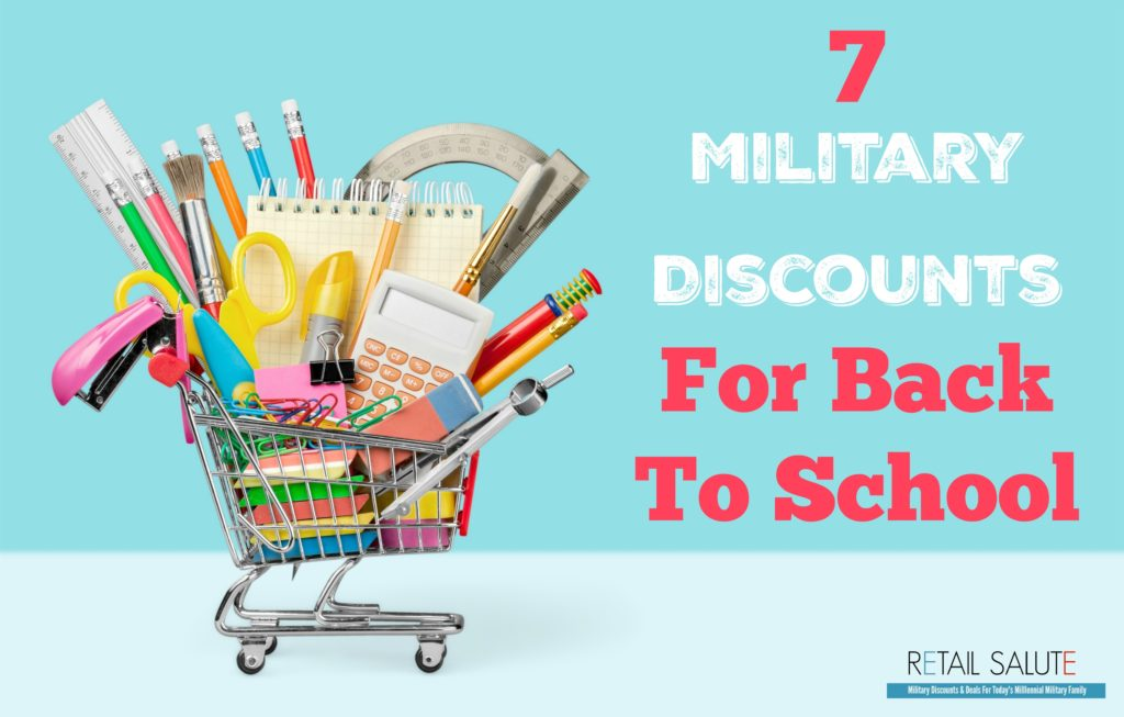 7 Military Discounts For Back To School Retail Salute