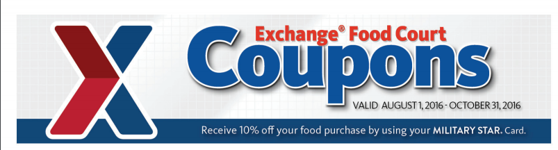 Aafes Px Food Court Coupons Now Oct 31st Retail Salute