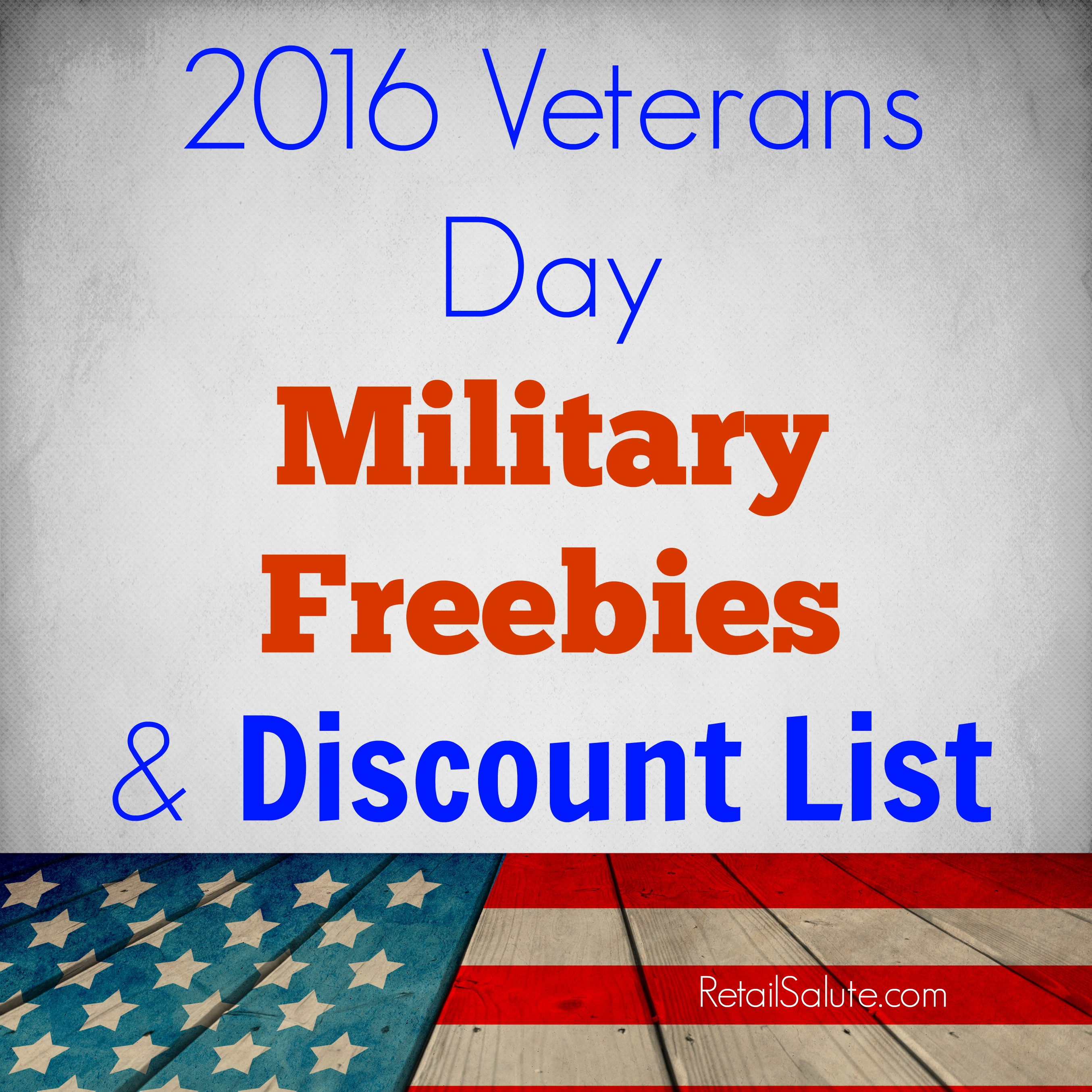 1c105dd961 2016 Veterans Day Deals   Freebie List – RETAIL SALUTE
