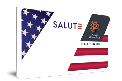 Caesar's Resorts SALUTE Card For Military