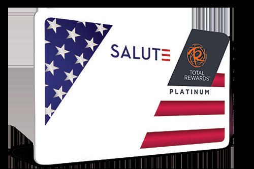 Caesar's Resorts Total Rewards SALUTE Card For Military