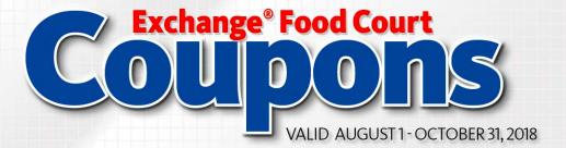 PX Exchange Food Court Coupons Aug-October 2018