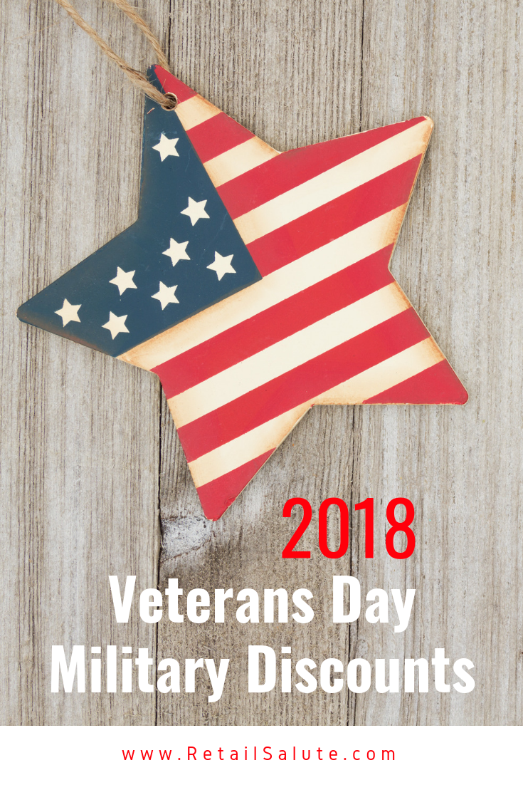 aecec77d12 2018 Veterans Day Military Discounts And Freebies – RETAIL SALUTE
