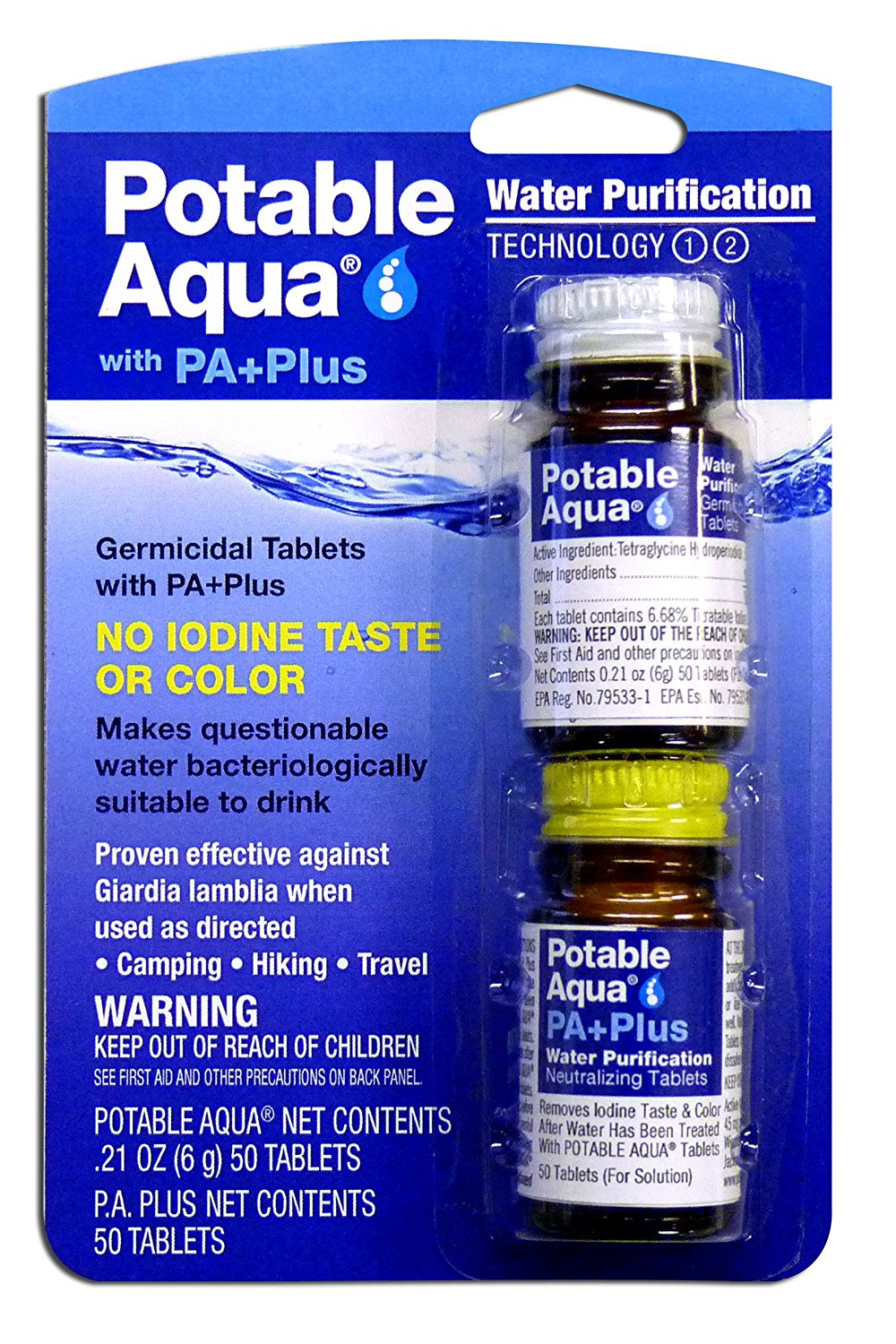 50 Potable Drinking Water Tablets on Sale $7.18