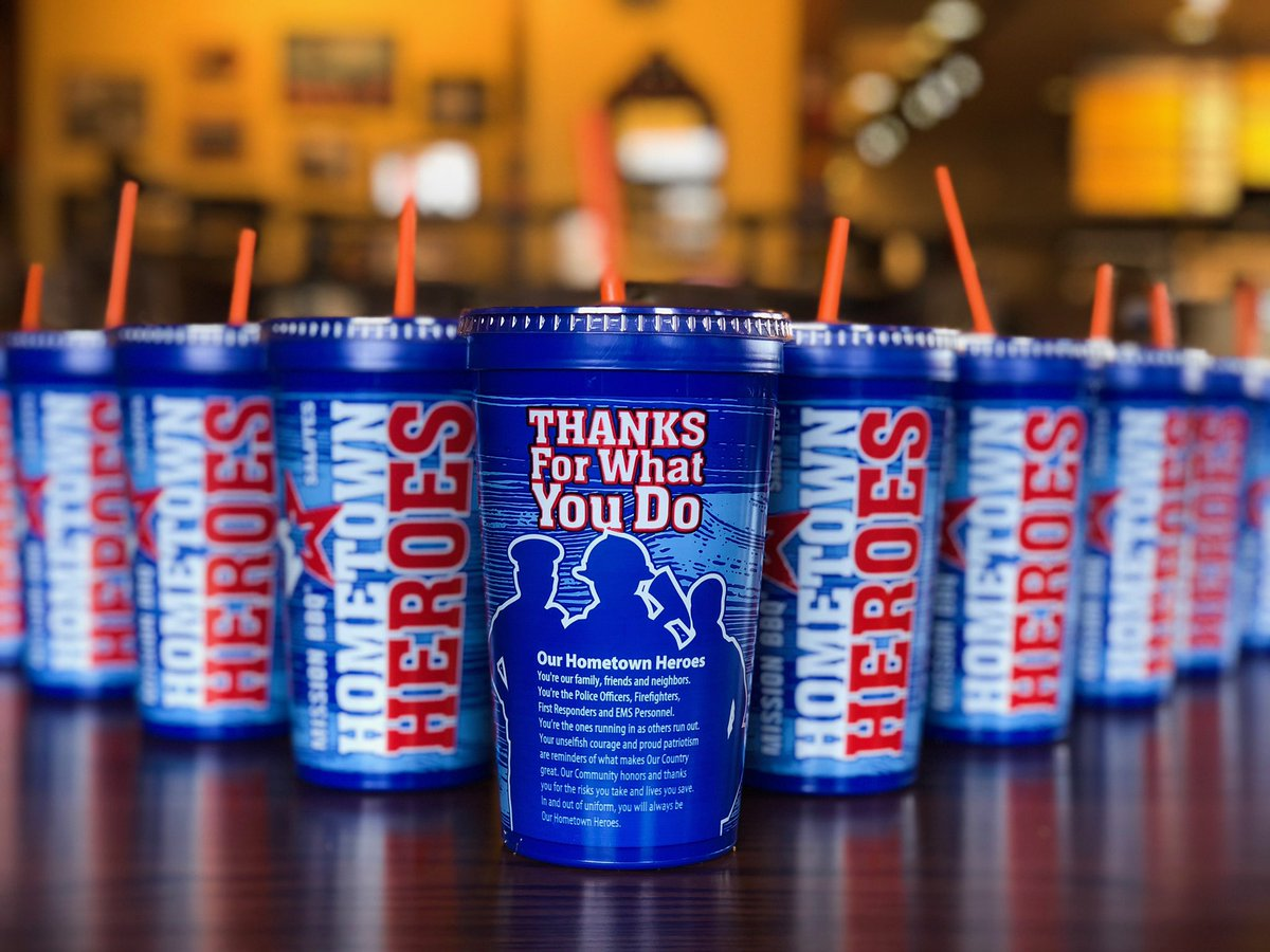 $.99 Cent Refills American Hero Cup Mission BBQ