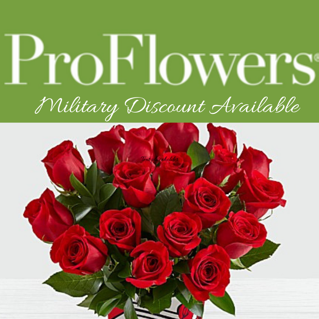 Military Save On Your V-Day Flowers