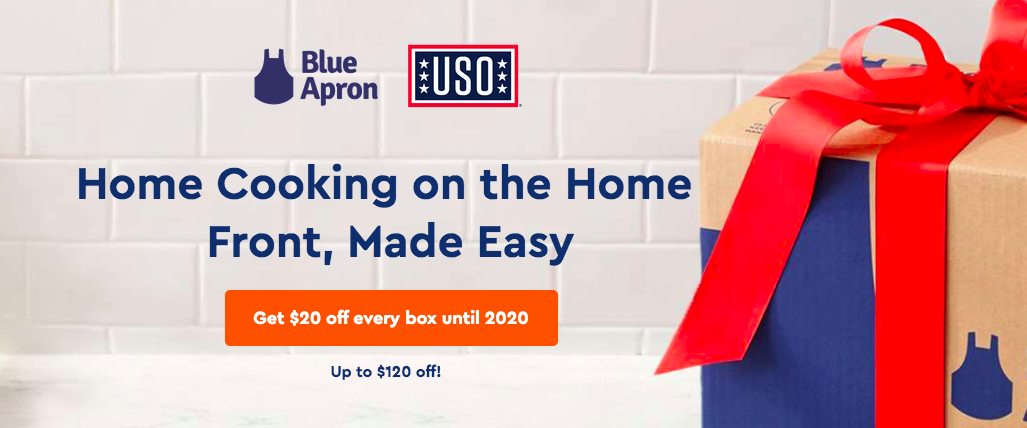 $20 Off For Military Blue Apron Meal Box